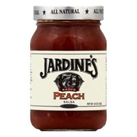 Jardines Peach Medium Salsa, 16 OZ (Pack of 6)
