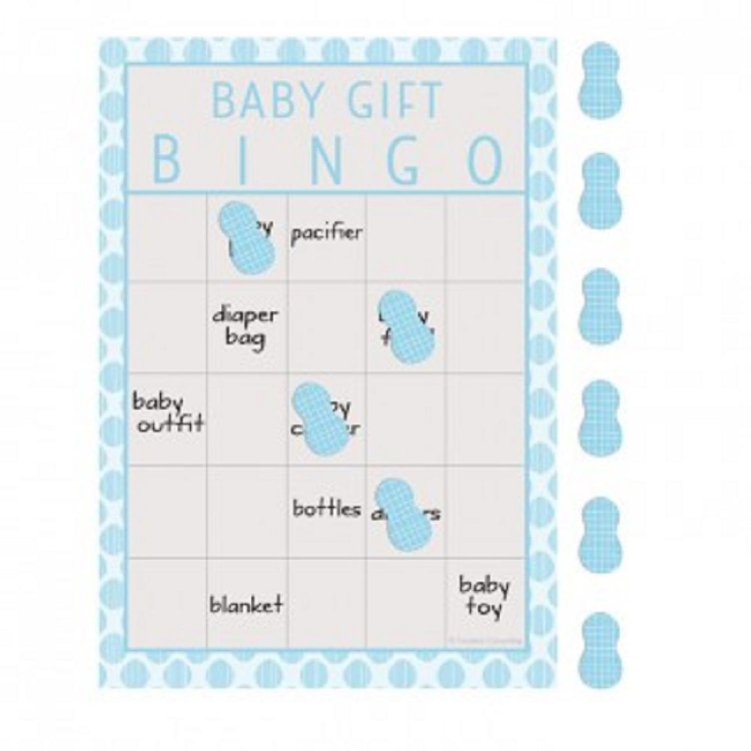 "Pack of 60 Baby Blue and Gray Little Peanut ""Baby Gift"" Boy Baby Shower Bingo Game 8.5"""