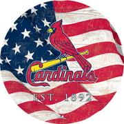 """St. Louis Cardinals 12"""" Team Color Flag Sign"""