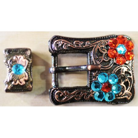 Horse Set of 2 Belt Buckle Keeper Bridle Headstall 3/4