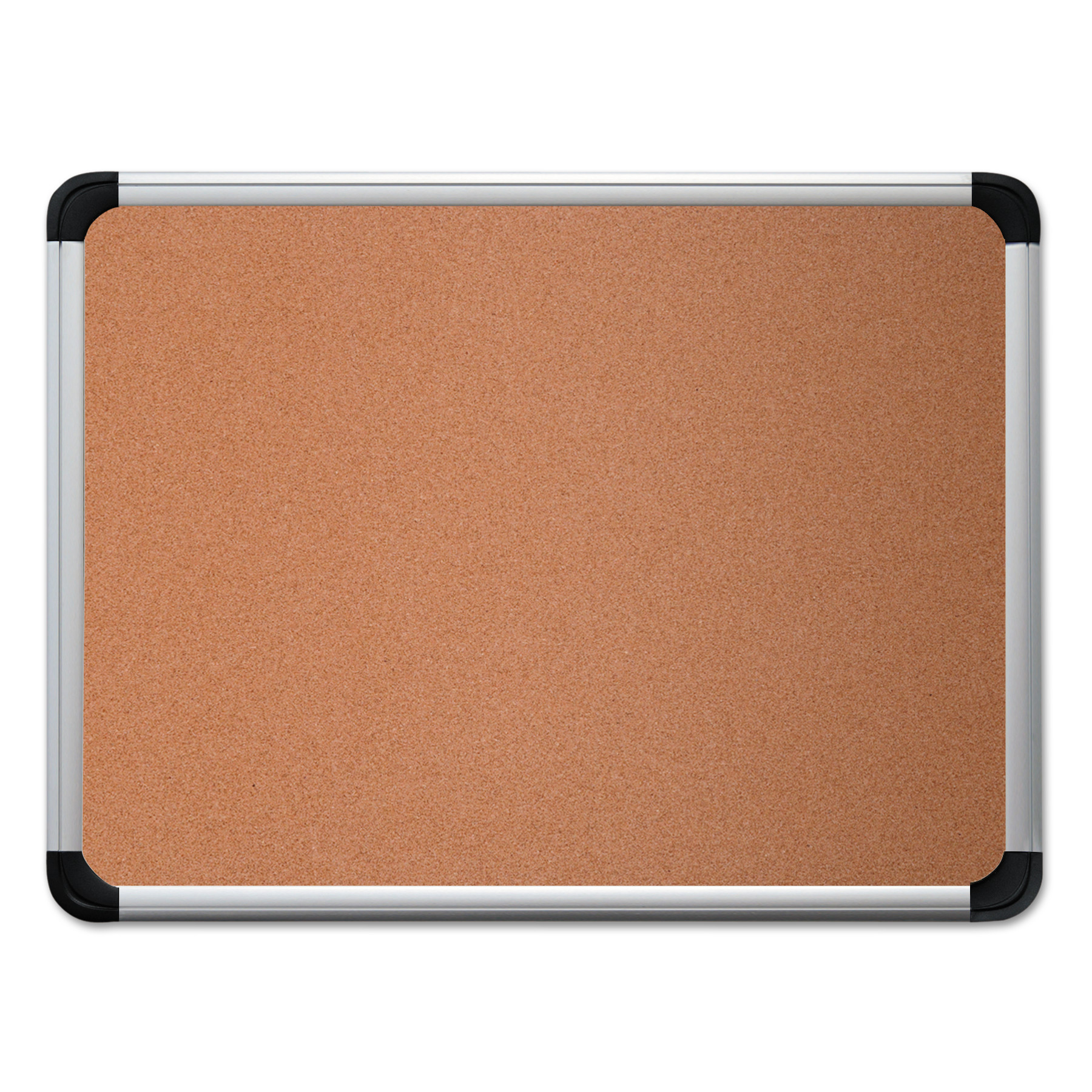 Universal Cork Board with Aluminum Frame, 36 x 24, Natural, Silver Frame -UNV43713
