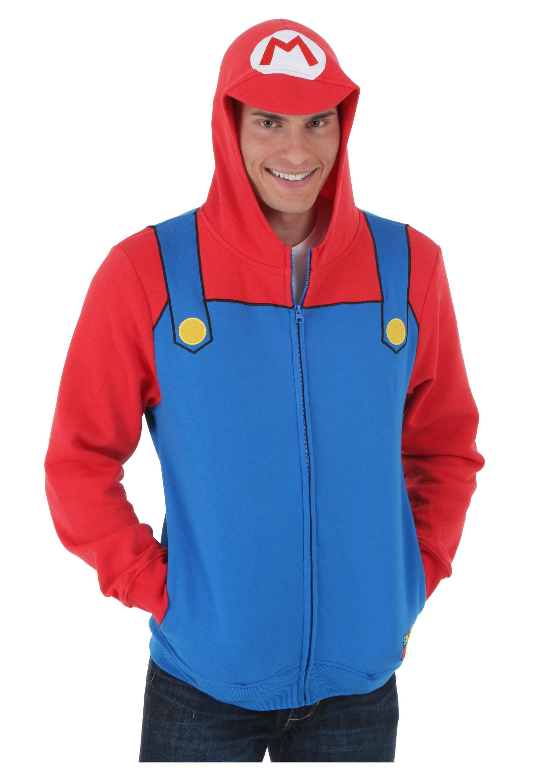 sc 1 st  Walmart & Mens Super Mario Hoodie - Walmart.com