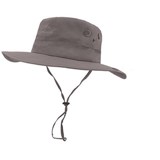 bc88736477690 lethmik outdoor waterproof boonie hat wide brim breathable hunting fishing  safari sun hat grey - Walmart.com