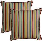 FHT Dockside Cardinal 17-in Throw Pillows (Set of 2)