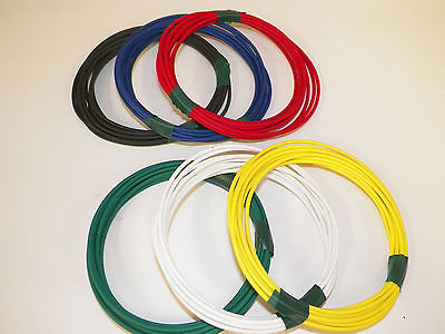 AUTOMOTIVE WIRE 18 AWG HIGH TEMP GXL STRANDED WIRE YELLOW 100 FT ON A SPOOL  USA