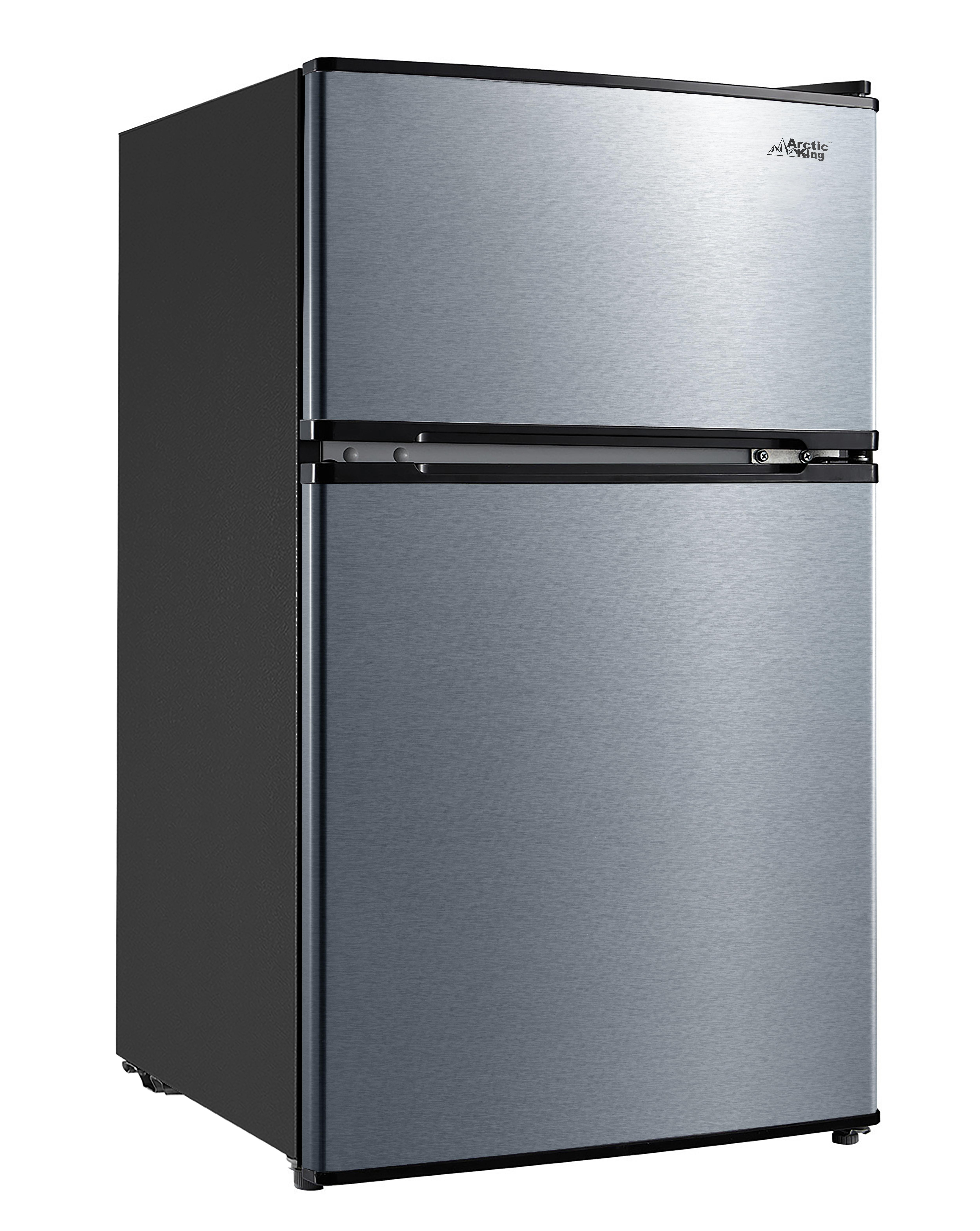 Arctic King 3 2 Cu Ft Two Door Mini Fridge With Freezer Stainless Steel Walmart Com Walmart Com