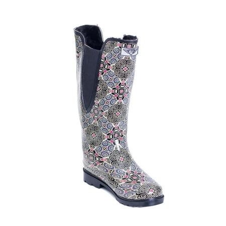 Women Rubber Rain Boots /w Faux Fur Lining