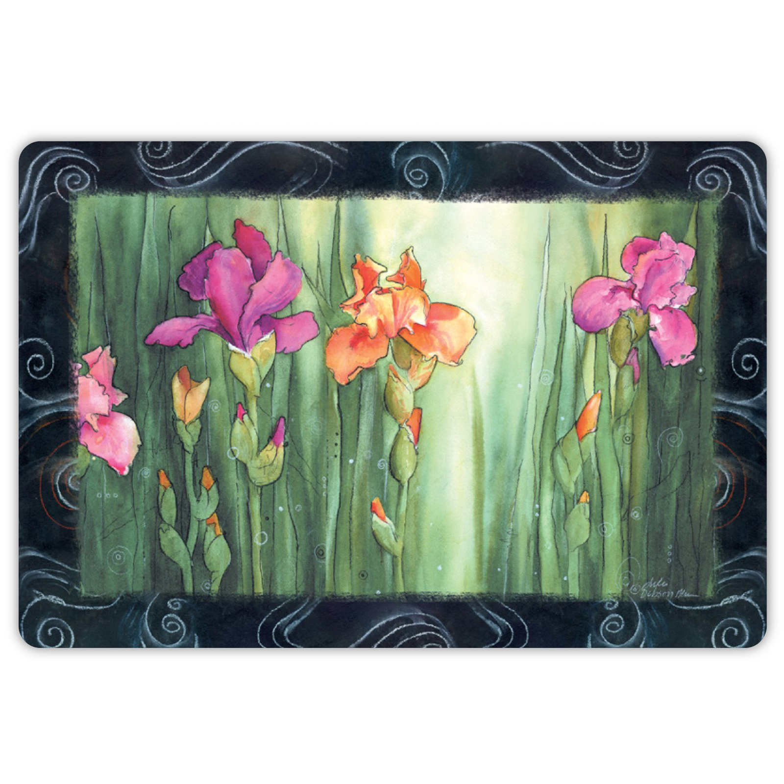 Drymate Spring/Summer Collection Welcome Mat - Irises