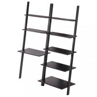 Product Image Modern Ladder Bookshelf Bookcase Leaning Wall Shelf Storage 2PCS