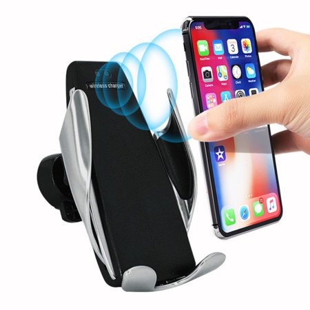 Sterling Fast Mount - Fast Wireless Car Charger Automatic Infrared Sensor Car Smart Phone Mount 360° Air Vent Holder