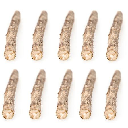 10 Pcs Natural Cat Catnip Sticks Matatabi Snacks Molar Chew Toy Dental Cleaning Teeth Wood Stick for Pet Cat Kitten