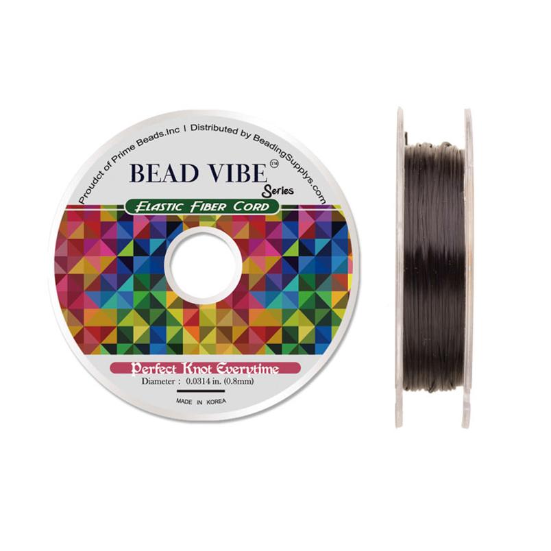 Elastic Fiber Cord, Beadvibe Series Elastic Fiber Cord, Pink 0.8mm Diameter 32ft