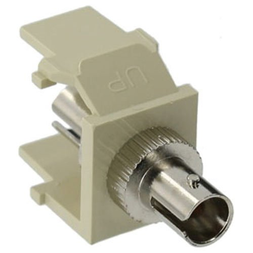 Leviton QuickPort Ivory ST Fiber Optic Single-Mode Adapter Snap-In Connector 41084-SIZ
