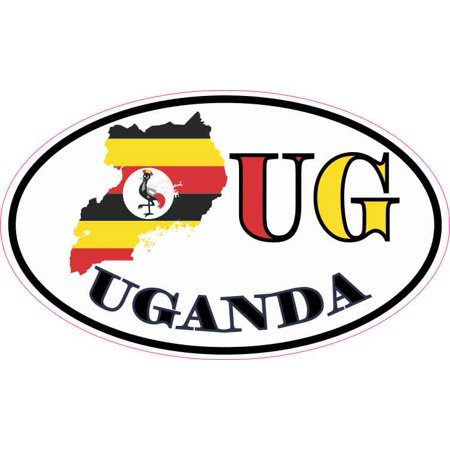 5in x 3in oval ug uganda sticker vinyl vehicle bumper decal cup stickers