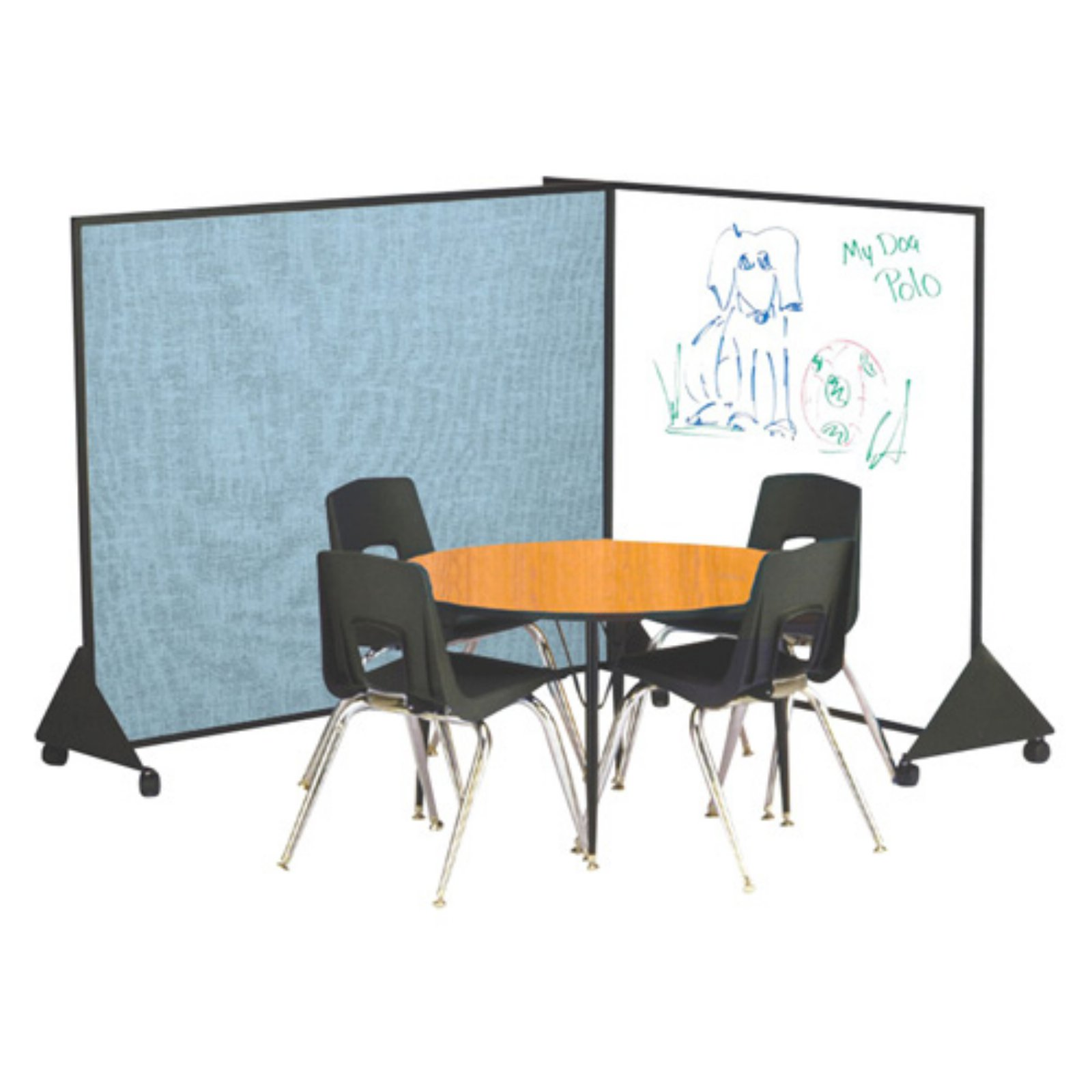 Best Rite Pre-School Markerboard/Vinyl Double Sided Room Divider - 5W x 4H ft.
