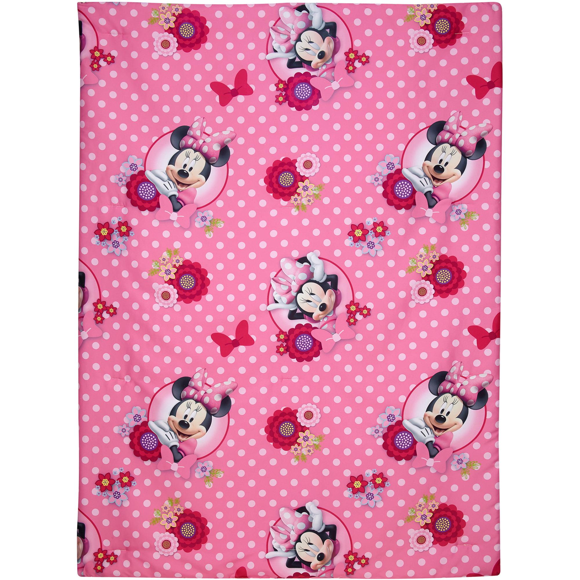 disney minnie mouse bow power 4-piece toddler bedding set