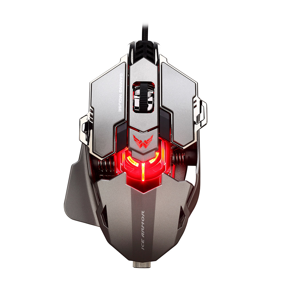 Professional USB Wired Gaming Mouse with 9 Button 4000 DPI LED Optical Mouse Gamer Mice Ergonomic Design for PC Laptop