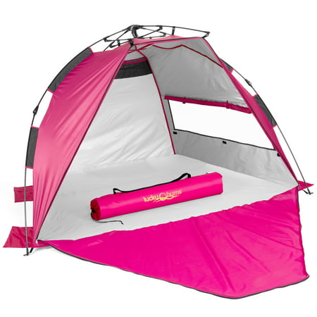 Lucky Bums Easy Pop Up Beach Tent Sun Canopy Pink