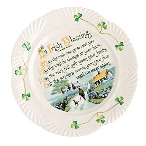 Belleek Harp Blessing Plate, 9""