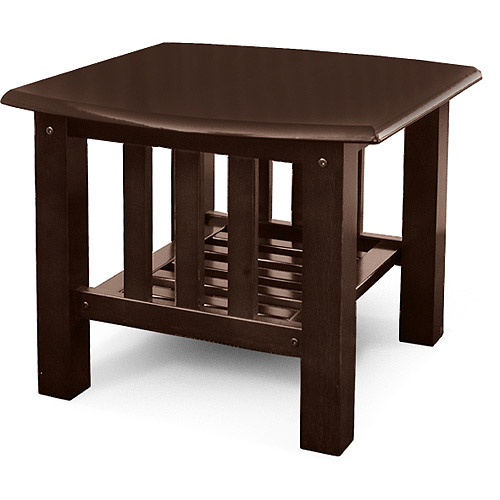 Bridgeport Mission End Table, Walnut