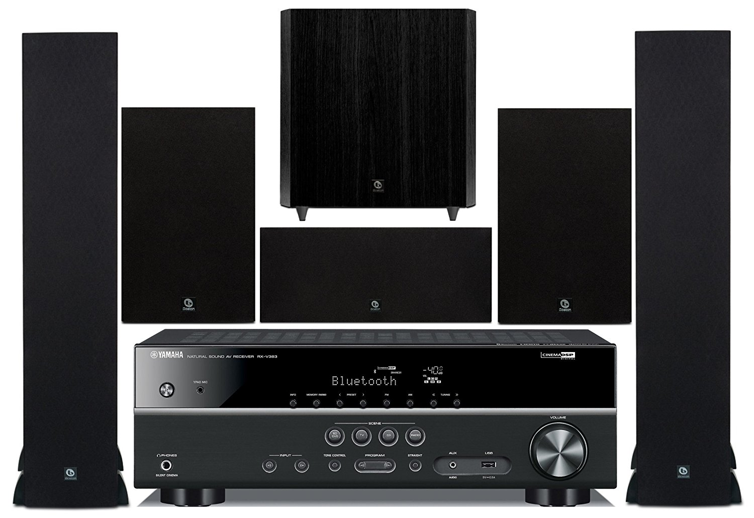 Yamaha 5.1-Channel Wireless Bluetooth 4K 3D A V Surround Sound Multimedia Home Theater System by Yamaha