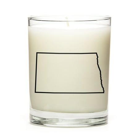 Made to Order Personalized and Custom Candles with the Map Outline of North-Dakota State! Personal Gift at a Excellent Price. Premium Soy Wax, Perfect Gift! Luna Candle Co. - Lemon - Custom Candles