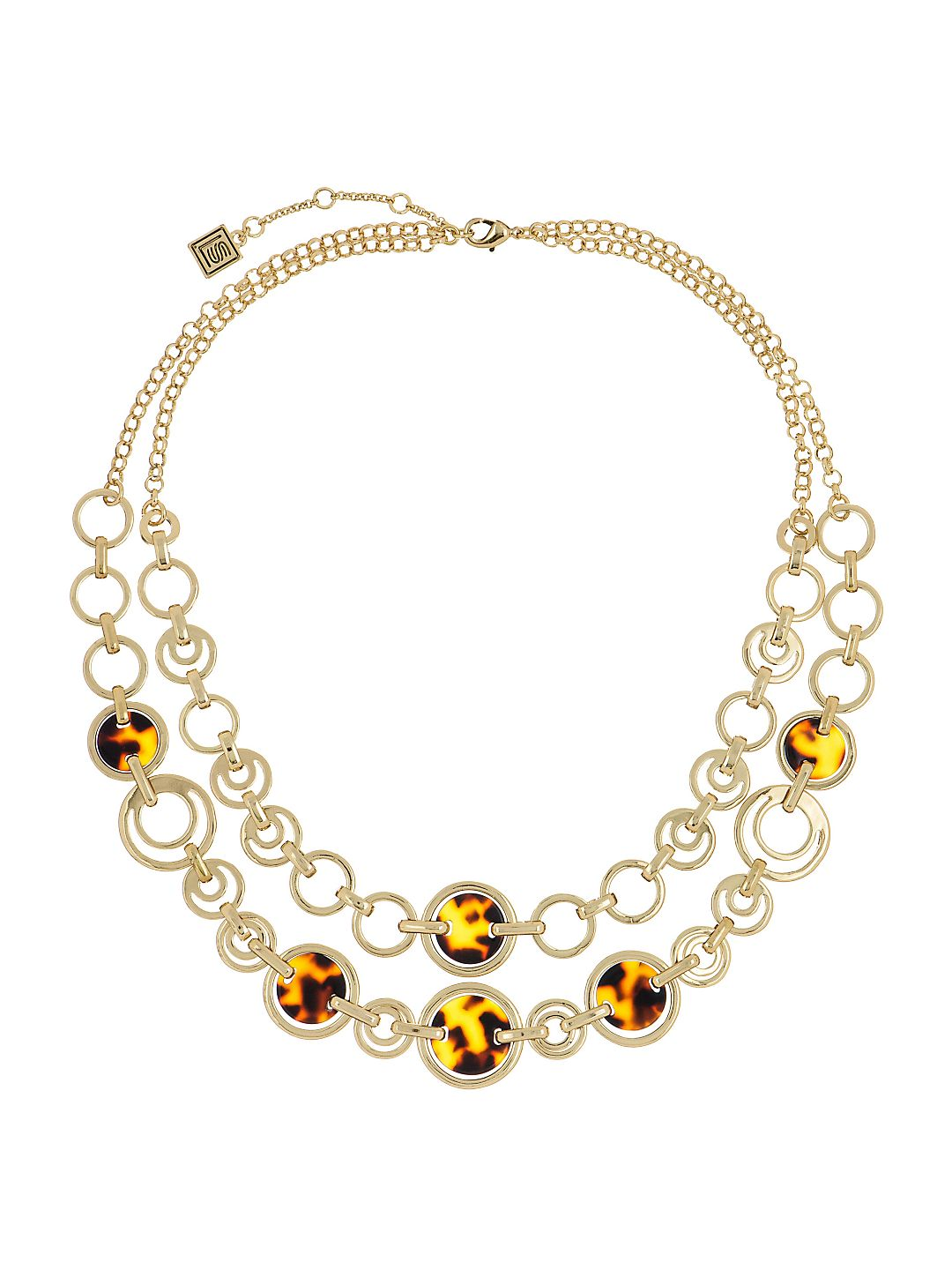 Two-Row Tortoise Link Necklace