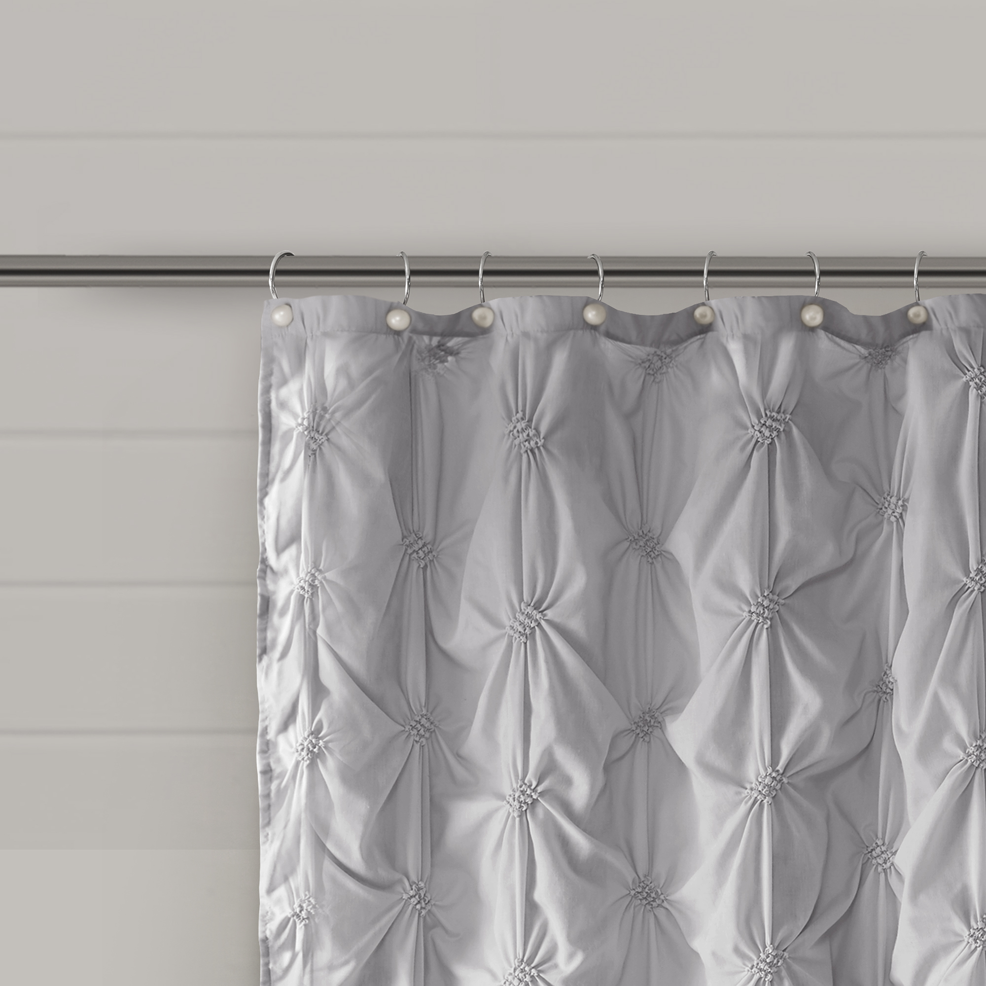 Better Homes And Gardens Pintuck Pearl Shower Curtain And