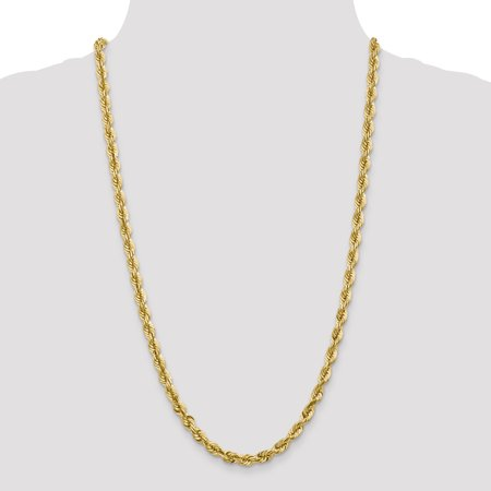 14K Yellow Gold 5.5mm Diamond Cut Rope With Lobster Clasp Chain Anklet 9 IN - image 1 de 4