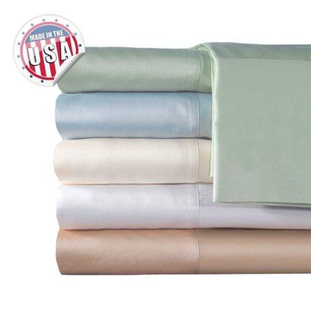 Veratex Indoor Bedroom Mattress Cover 300Tc Solid Sheet Set Queen Blue