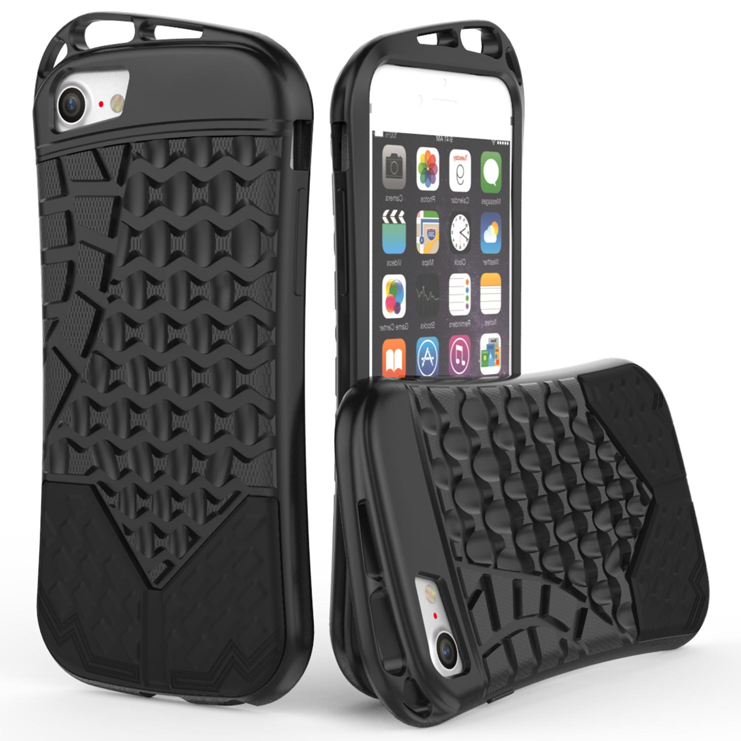 CoverON Apple iPhone 8 / iPhone 7 Case, Trekker Series Protective TPU Rubber Phone Cover with Carrying Loops