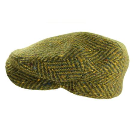 ab84660e164aa New Irish Scally Cap Green Herringbone 100% Wool Made in Ireland ...