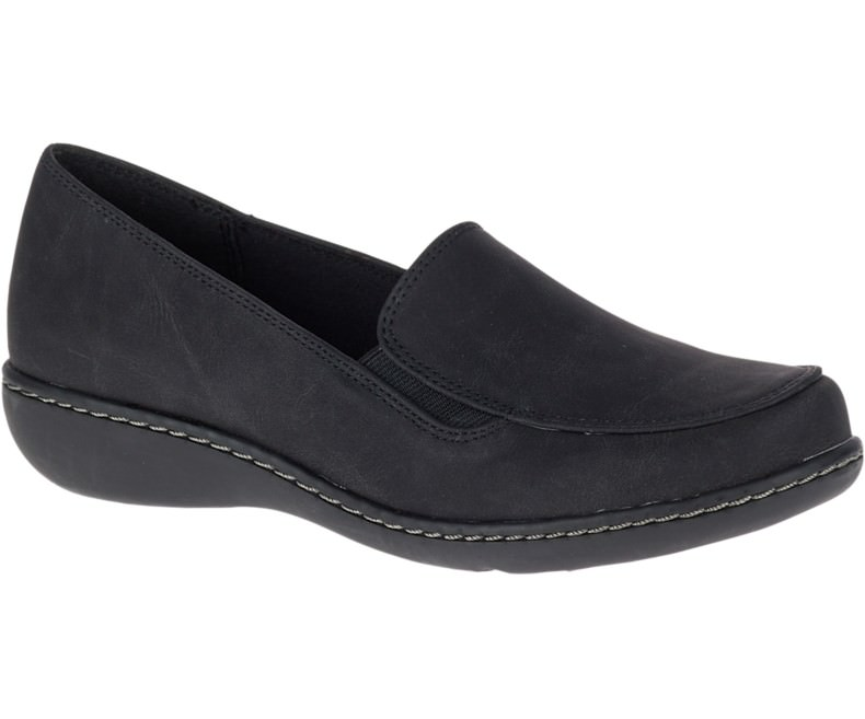 Soft Style by Hush Puppies JAYLENE Womens Black Loafer Slip On Shoes