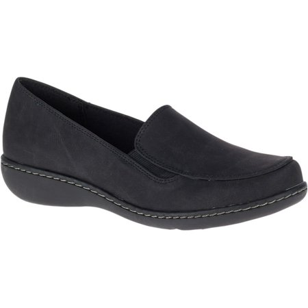 Soft Style by Hush Puppies JAYLENE Womens Black Loafer Slip On Shoes ()