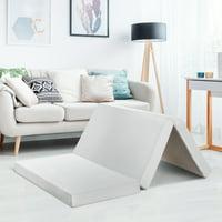 Best Price Mattress 4 Inch Trifold Memory Foam Mattress, Multiple Sizes