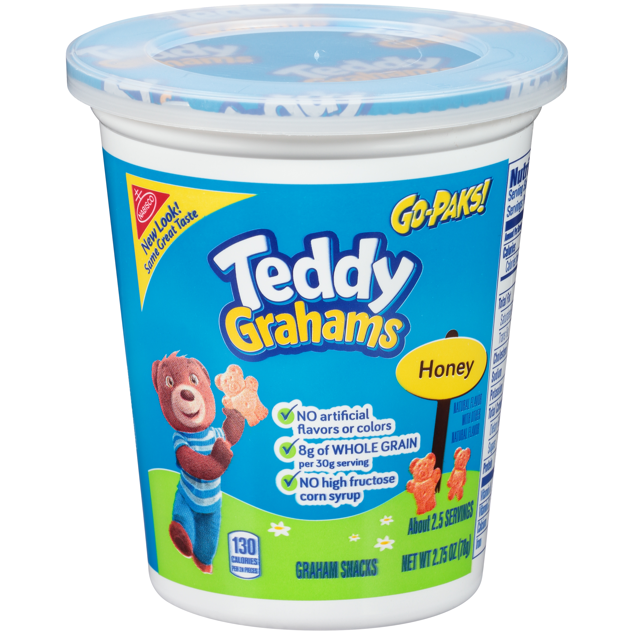 Teddy Grahams Honey Graham Snacks - Go-Pak, 2.8 oz