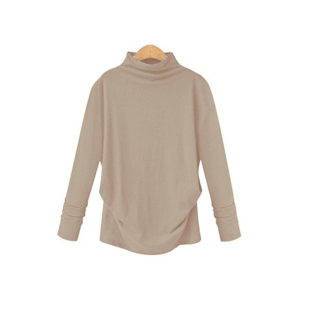 MRY Women Lady Solid Turtleneck Sweater Casual Pullover Tops Blouse Autumn Winter