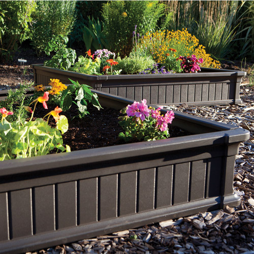 Lifetime 4' x 4' Raised Garden Bed, Brown