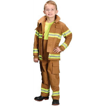 Tan Firefighter Child Halloween Costume](Firefighter Kids)