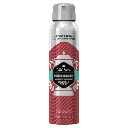 Mens Invisible Set - Old Spice Invisible Spray Antiperspirant and Deodorant for men, Pure Sport, 3.8 oz