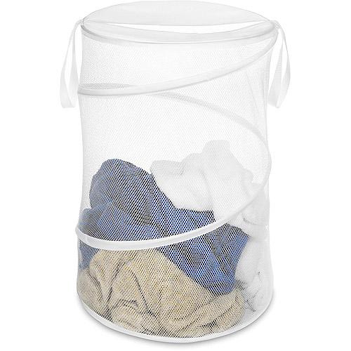 Whitmor Collapsible Laundry Hamper, White