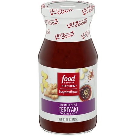 (2 Pack) Food Network Kitchen Inspirations Japanese Style Teriyaki Cooking Sauce, 15 oz