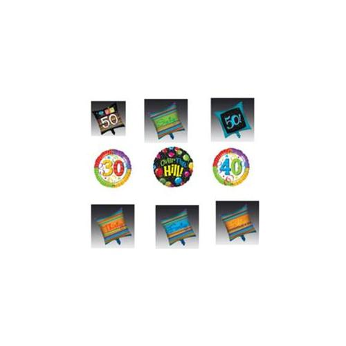 Bulk Buys Over the Hill Foil Balloon Assortment - Case of 18