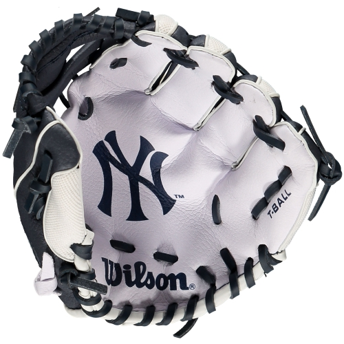 New York Yankees Wilson Youth Baseball Tee Ball Glove No Size
