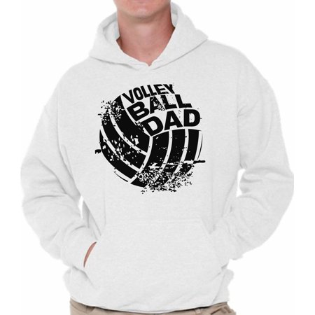 Awkward Styles Men's Volleyball Dad Graphic Hoodie Tops Black Team Sport Volleyball Father's Day Gift - Volleyball Team Gifts