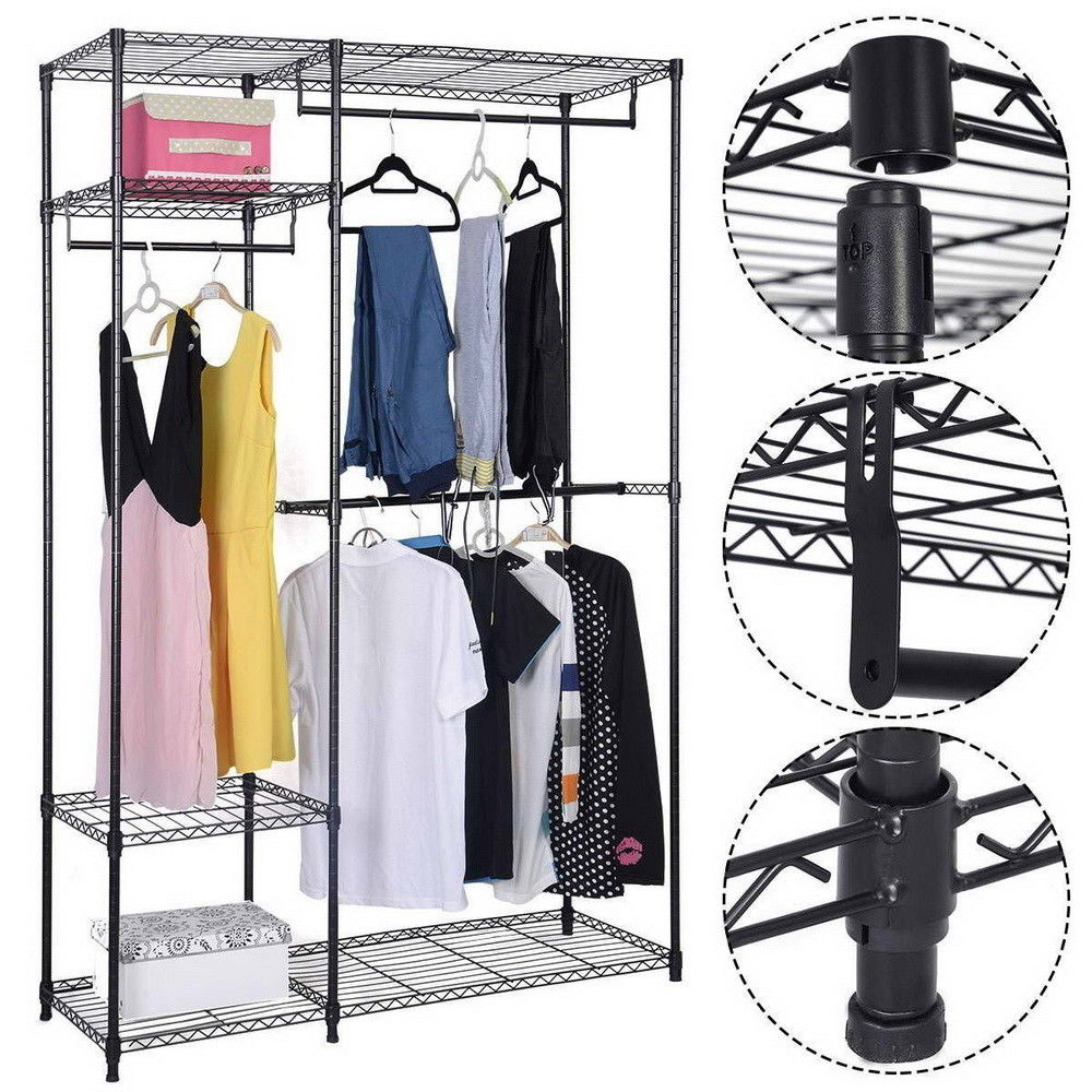 Ktaxon Portable Clothes Wardrobe Garment Rack Home Closet Hanger Storage Organizer