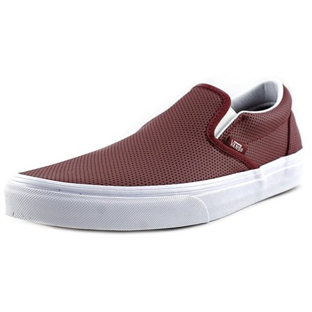 f14d8f9983 VANS - Classic Slip-On Women Round Toe Leather Burgundy Skate Shoe -  Walmart.com