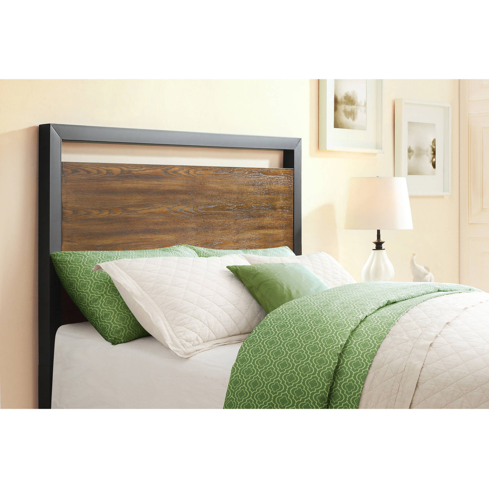 Better Homes & Gardens Mercer Full/Queen Headboard, Vintage Oak Finish