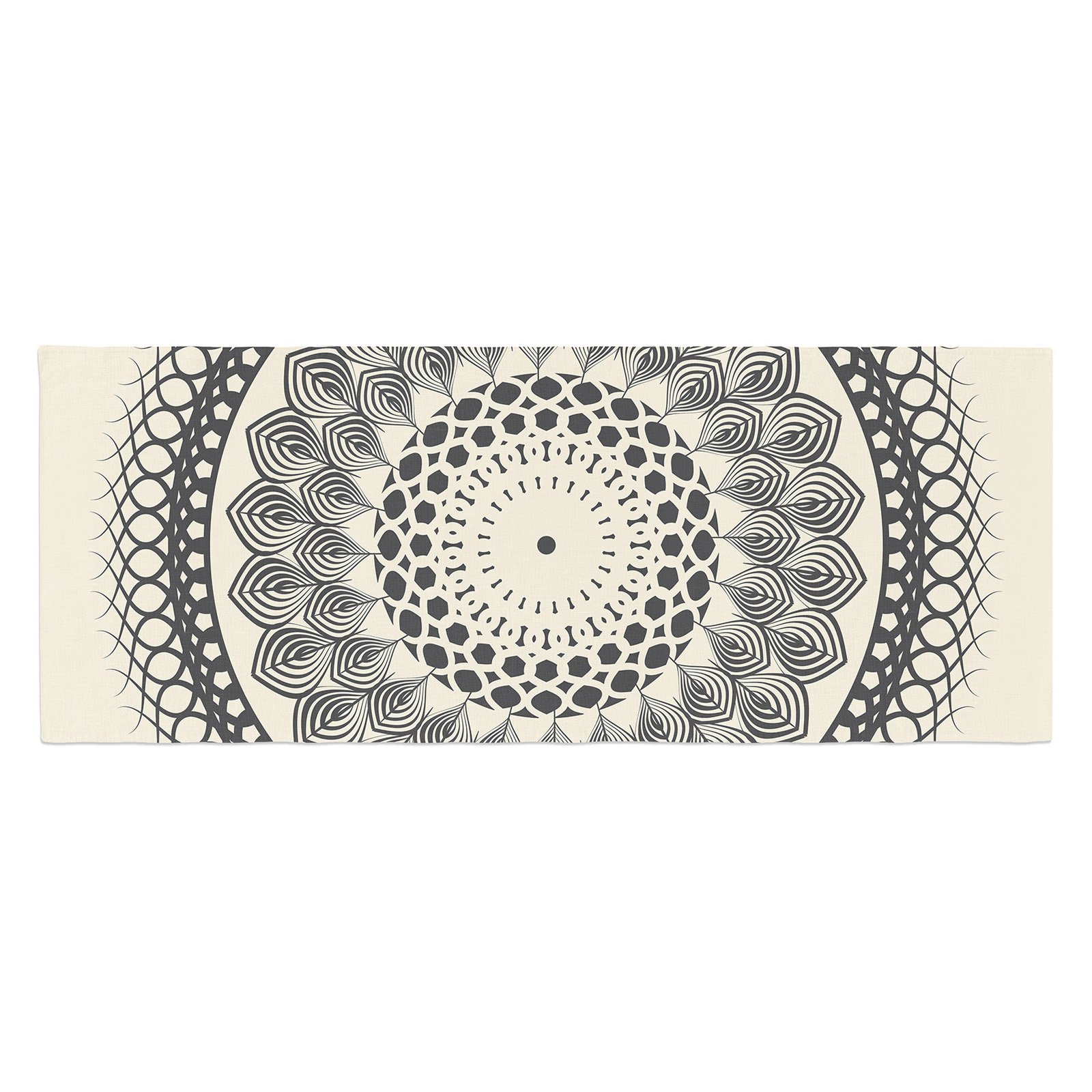 Famenxt and Boho Mandala Geometric Bed Runner by Kess InHouse