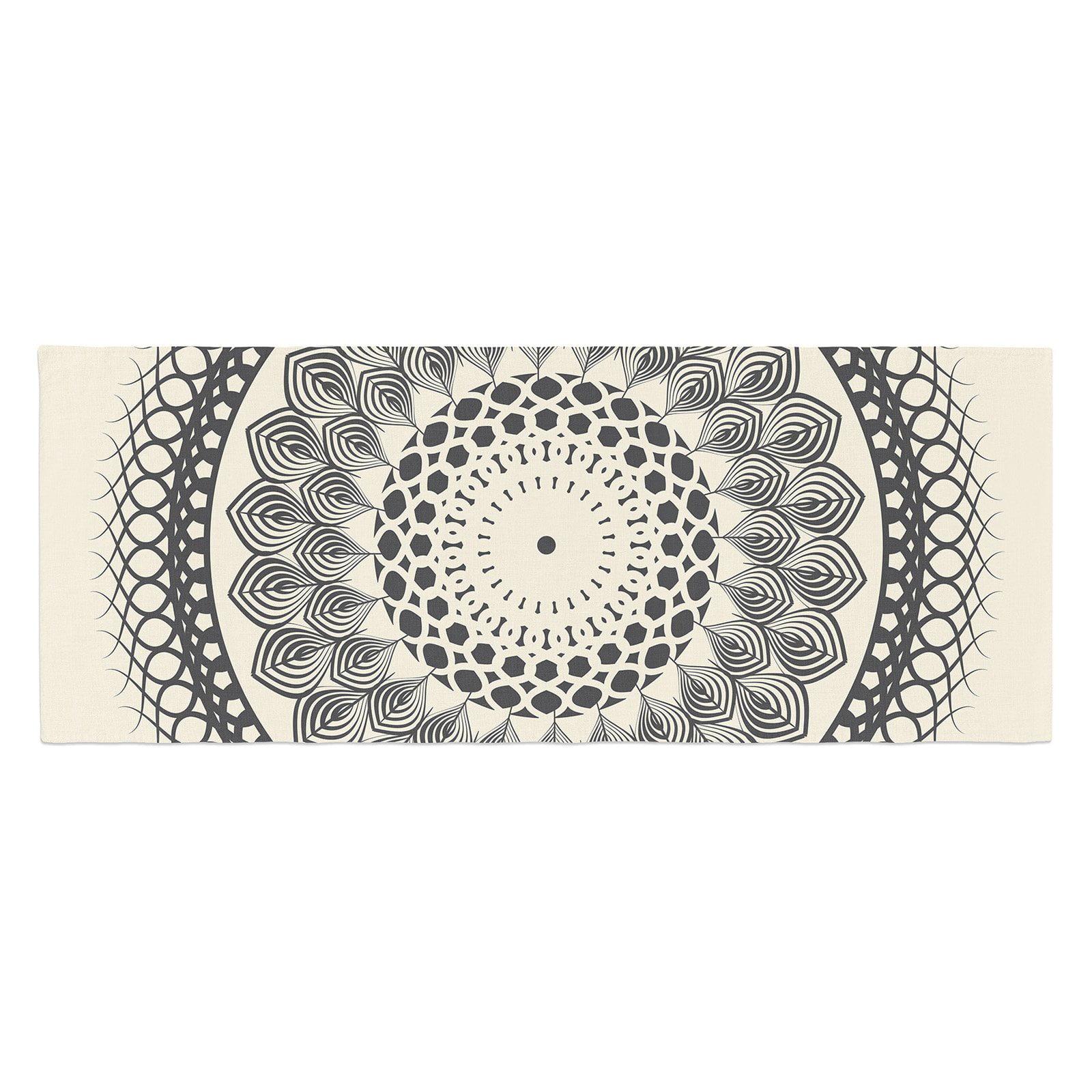 Famenxt and Boho Mandala Geometric Bed Runner by Kess InHouse